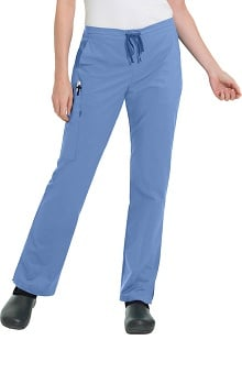 Work Flow by Landau Women's Drawstring/Elastic Cargo Scrub Pant