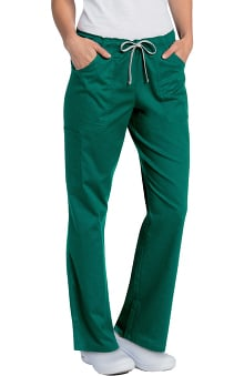 All Day by Landau Women's Full Elastic Cargo Scrub Pant