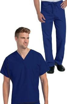 petite: Landau Unisex Nursing - Reversible Scrub Set