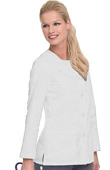 labcoats: Smart Stretch by Landau Women's Crew Neck Lab Coat