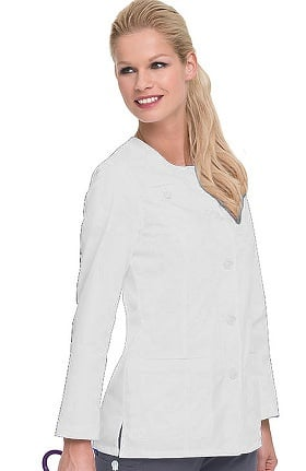 "Smart Stretch by Landau Women's Crew Neck 27⅝"" Lab Coat"
