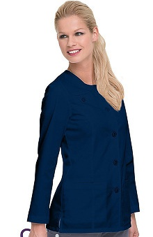 Clearance Smart Stretch by Landau Women's Crew Neck Lab Coat
