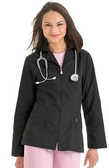 Urbane Essentials Women's Slim Cut Lab Coat