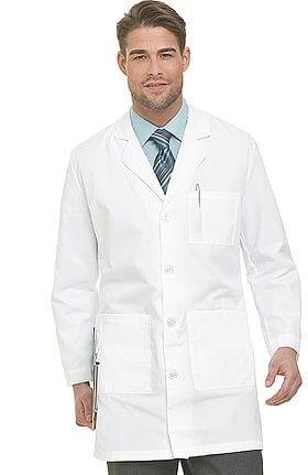 "Landau Men's 5-Pocket Twill 37"" Lab Coat"