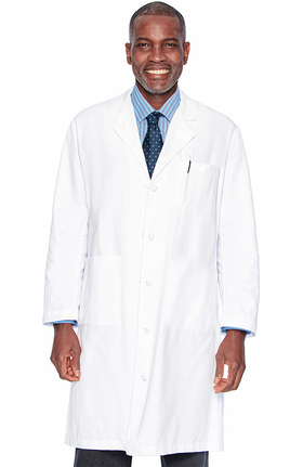 "Landau Men's 3-Pocket Super Twill 44½"" Lab Coat"