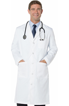"Landau Men's 3-Pocket Full Length Twill 43½"" Lab Coat"