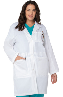 "Landau Women's iPad Pocket 37"" Lab Coat"