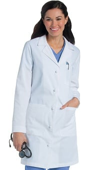 Landau Women's Knot Button Lab Coat