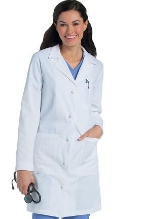 """Landau Women's Knot Button 36¼"""" Lab Coat"""