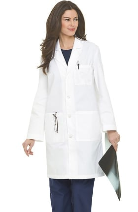 "Landau Unisex 3-Pocket Plain Back 39"" Lab Coat"