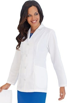 Landau Women's 2-Pocket Poplin Lab Coat