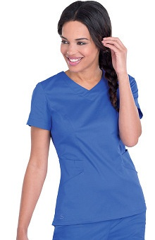 Smart Stretch by Landau Women's Crossover Solid Scrub Top