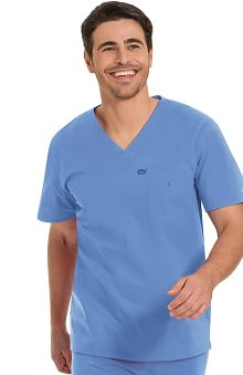 Work Flow by Landau Unisex V-Neck Solid Scrub Top