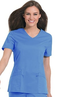 Work Flow by Landau Women's Solid V-Neck Scrub Top