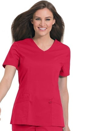 Clearance Work Flow by Landau Women's Solid V-Neck Scrub Top