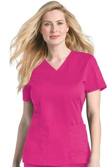 Pre-Washed by Landau Women's V-Neck Top Load Pocket Scrub Top