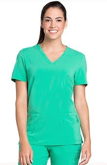 Lynx Women's Unleashed V-Neck Solid Scrub Top