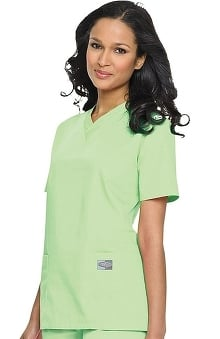 Clearance ScrubZone by Landau Women's V-Neck Solid Scrub Top