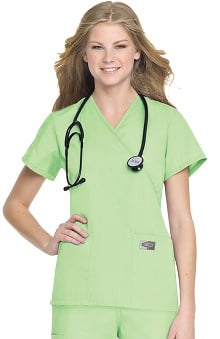 LGE: ScrubZone Women's Crossover Solid Scrub Top