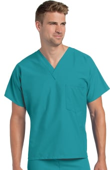 cna uniforms: Landau Unisex Reversible V-Neck Classic Fit Solid Scrub Top