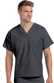 2XL: Landau Unisex Reversible V-Neck Classic Fit Solid Scrub Top