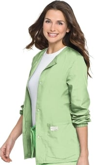 LGE: ScrubZone Women's Warm Up Solid Scrub Jacket
