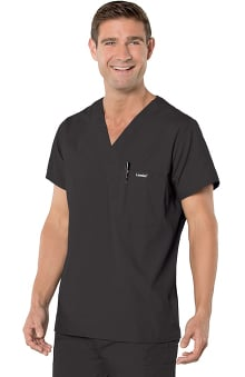 Landau Men's Vented Solid Scrub Top