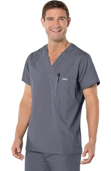 Clearance Landau Men's Vented Solid Scrub Top