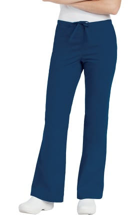 Landau Women's Natural Fit Flare Leg Scrub Pants