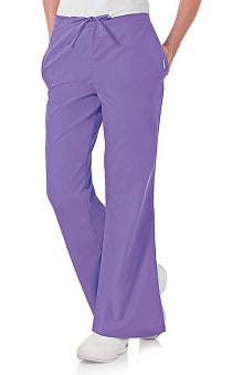 Clearance Landau Women's Natural Fit Flare Leg Scrub Pants