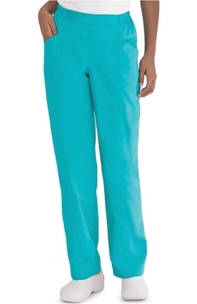 Clearance Landau Women's Natural Fit Flat Front Scrub Pants