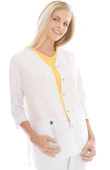 dental : Landau Women's 3/4 Sleeve Tunic/ Solid Scrub Jacket