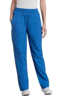 Landau Women's Classic Fit Cargo Elastic Waist Scrub Pants