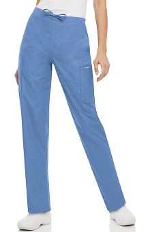 Landau Women's Classic Fit Cargo Drawstring Scrub Pants