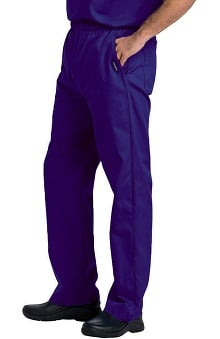 Clearance Landau Men's Elastic with Zipper Fly Scrub Pants