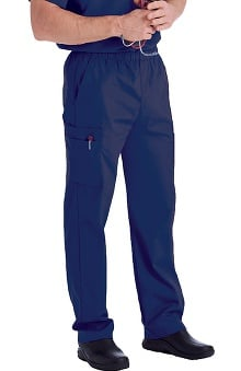LGE: Landau Men's Cargo Pocket with Zipper Fly Scrub Pants