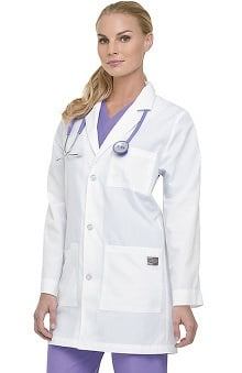 ScrubZone by Landau Unisex Three Button Lab Coat
