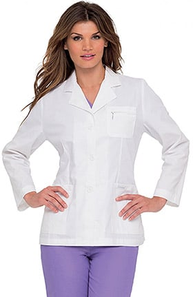 "Landau Women's 3 Button 30½"" Lab Coat"