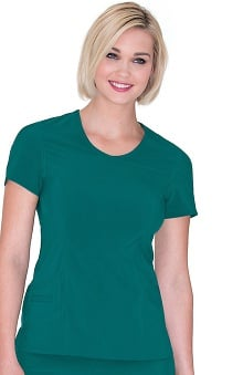 Clearance Urbane Performance Women's Urbane Banded Surplice Solid Scrub Top