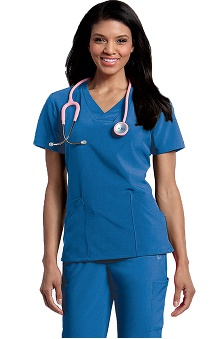 Clearance Urbane Performance Women's Elevate Crossover V-Neck Solid Scrub Top