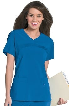 Urbane Performance Women's Rib Front Bodice Yoke Scrub Top