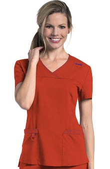Urbane Ultimate Women's Melissa Y-Neck Solid Scrub Top