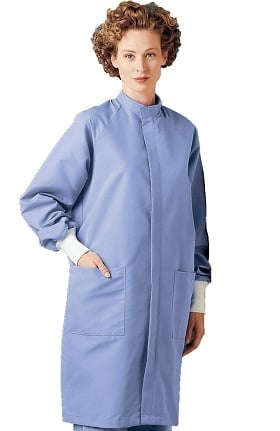"Landau Unisex Barrier 43"" Lab Coat"