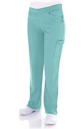 Clearance Urbane Ultimate Women's Kelsie Front Seam Cargo Solid Scrub Pant