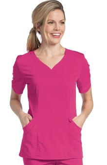 Urbane Ultimate Women's Sweetheart Neck Solid Scrub Top