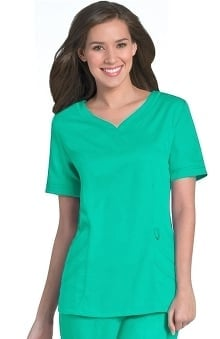 Clearance Urbane Ultimate Women's Sweetheart Neck Solid Scrub Top