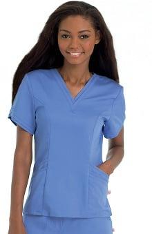 Scrubs: Urbane Ultimate Women's Ella Banded V-Neck Solid Top