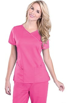 Urbane Ultimate Women's Sophie Crossover Solid Scrub Top