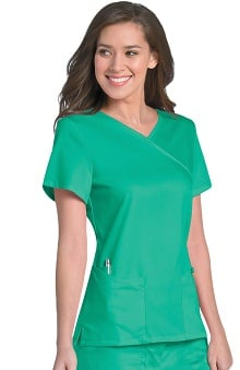 Clearance Urbane Ultimate Women's Sophie Crossover Solid Scrub Top