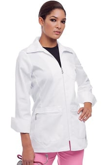 Urbane Essentials Women's Zipper Front Lab Coat